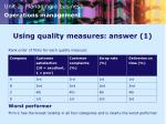 using quality measures answer 1