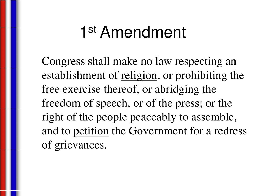 1 st amendment l.