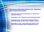 government education policies 1 tripartism and comprehensivisation2