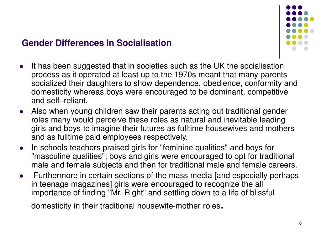 Gender Differences In Socialisation