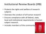 institutional review boards irb