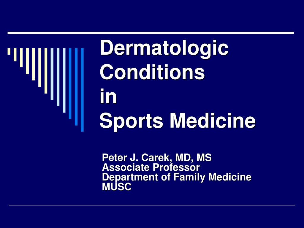 dermatologic conditions in sports medicine