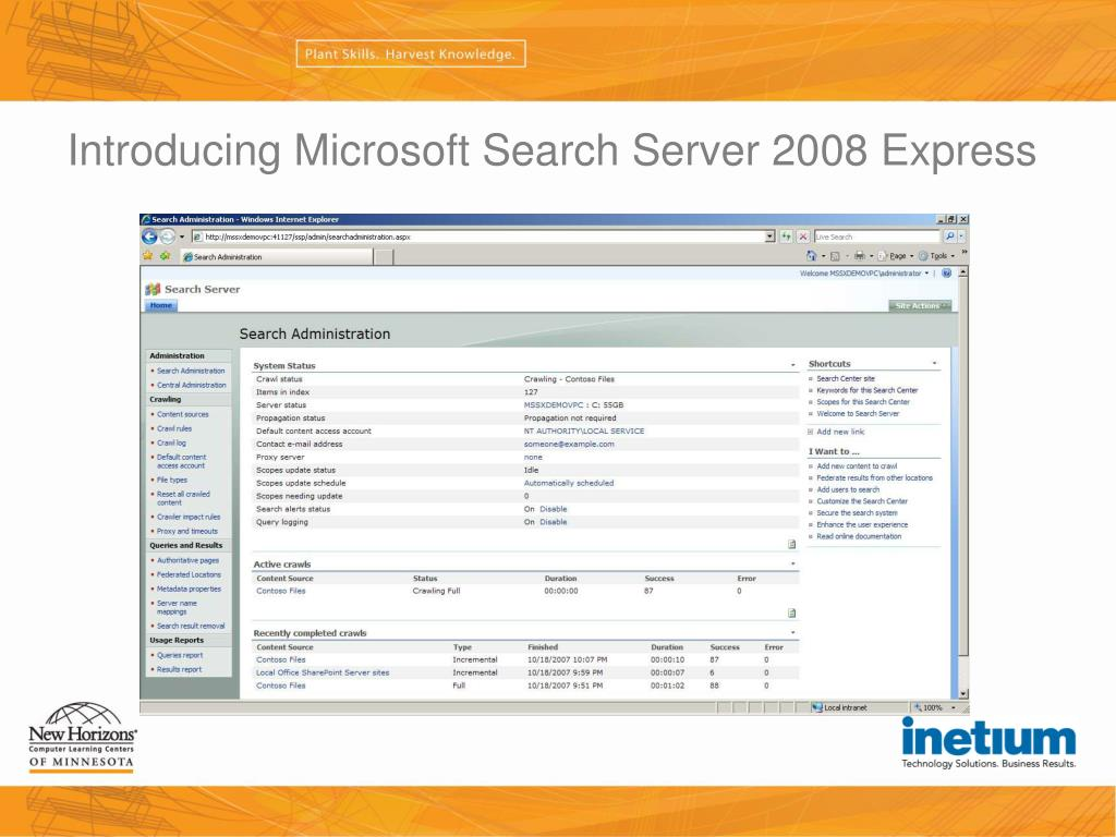 Introducing Microsoft Search Server 2008 Express