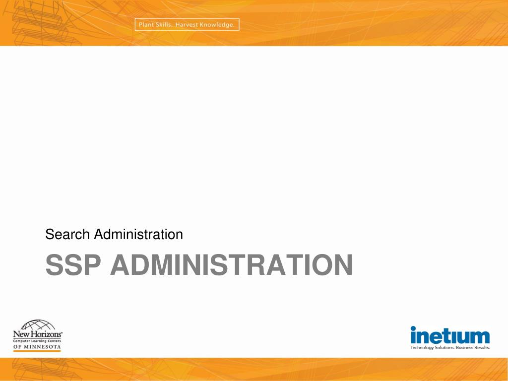 Search Administration