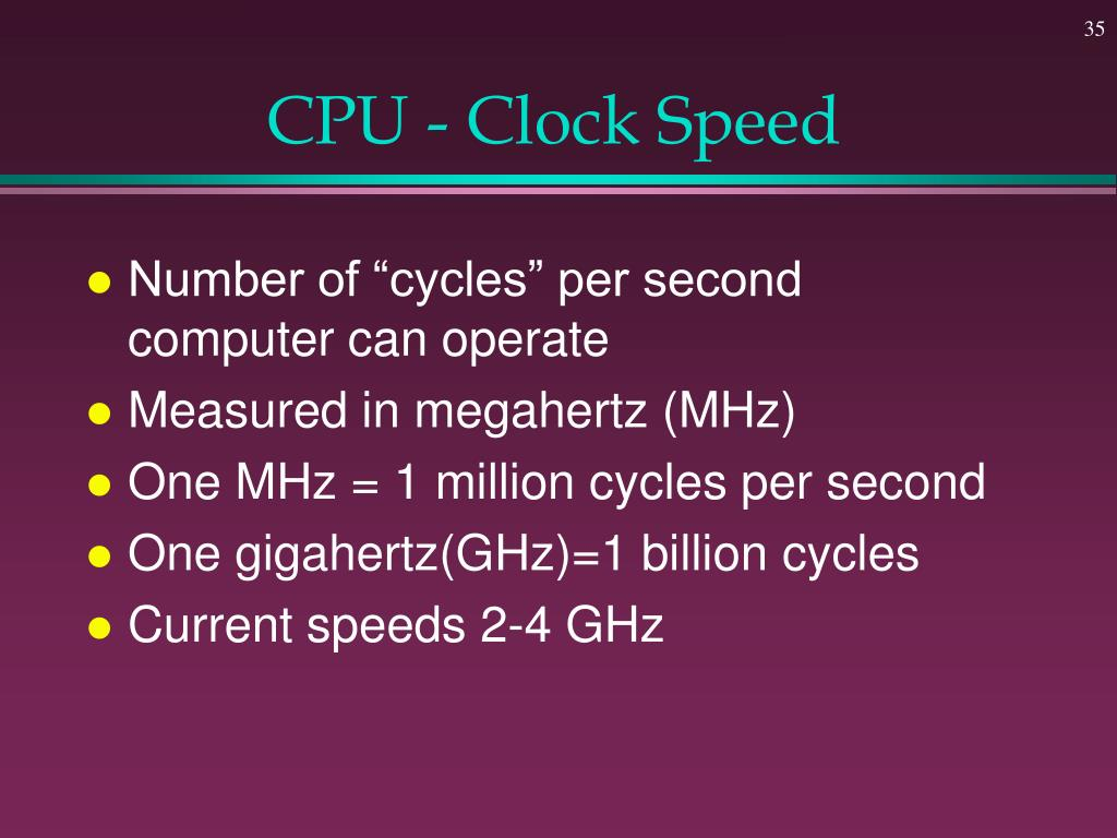 CPU - Clock Speed