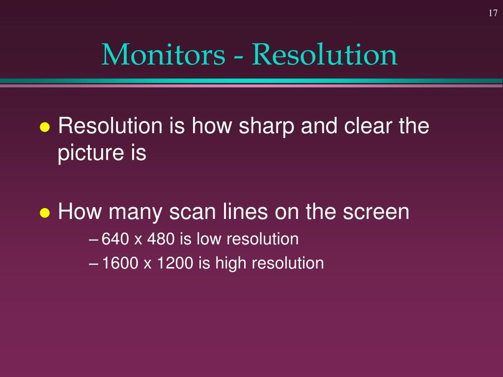 Monitors - Resolution