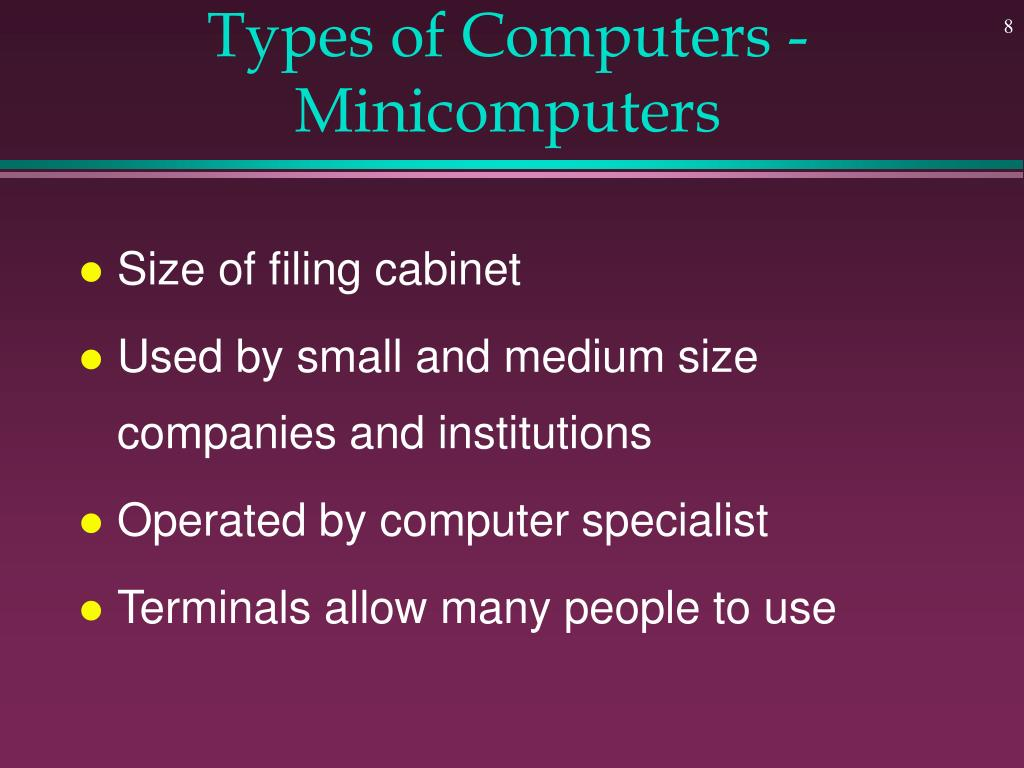 Types of Computers - Minicomputers