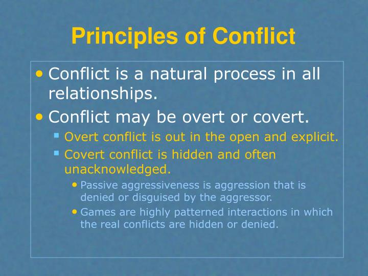 Principles of Conflict