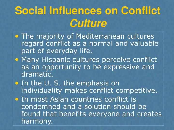 Social Influences on Conflict
