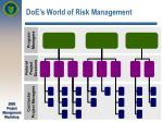 doe s world of risk management