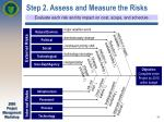 step 2 assess and measure the risks
