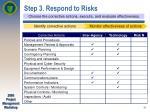 step 3 respond to risks