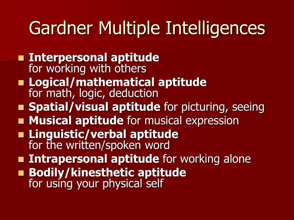 Gardner Multiple Intelligences