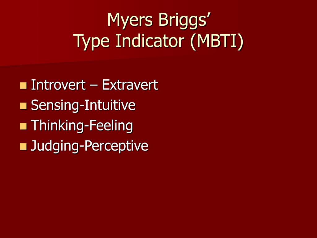 Myers Briggs'