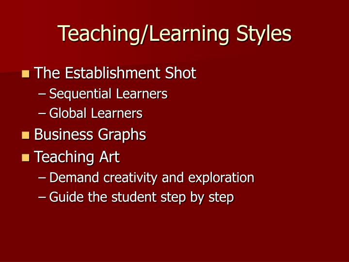 Teaching learning styles