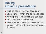 moving around a presentation