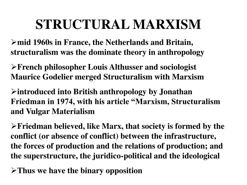 STRUCTURAL MARXISM