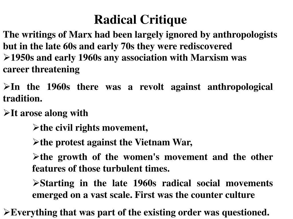 Radical Critique