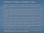 answers to basic computer quiz