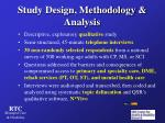 study design methodology analysis