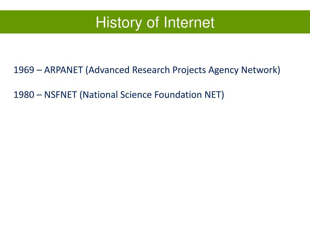 History of Internet