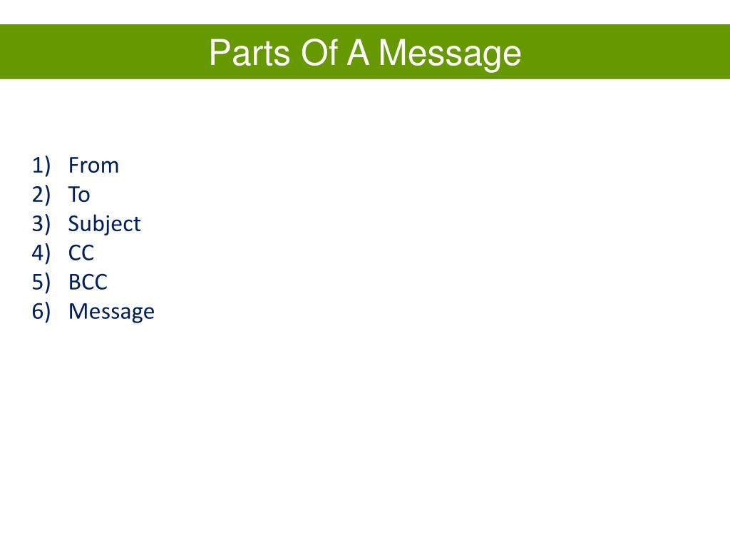 Parts Of A Message