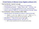 a brief history of dense linear algebra software 2 5