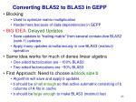 converting blas2 to blas3 in gepp