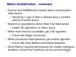 matrix multiplication summary