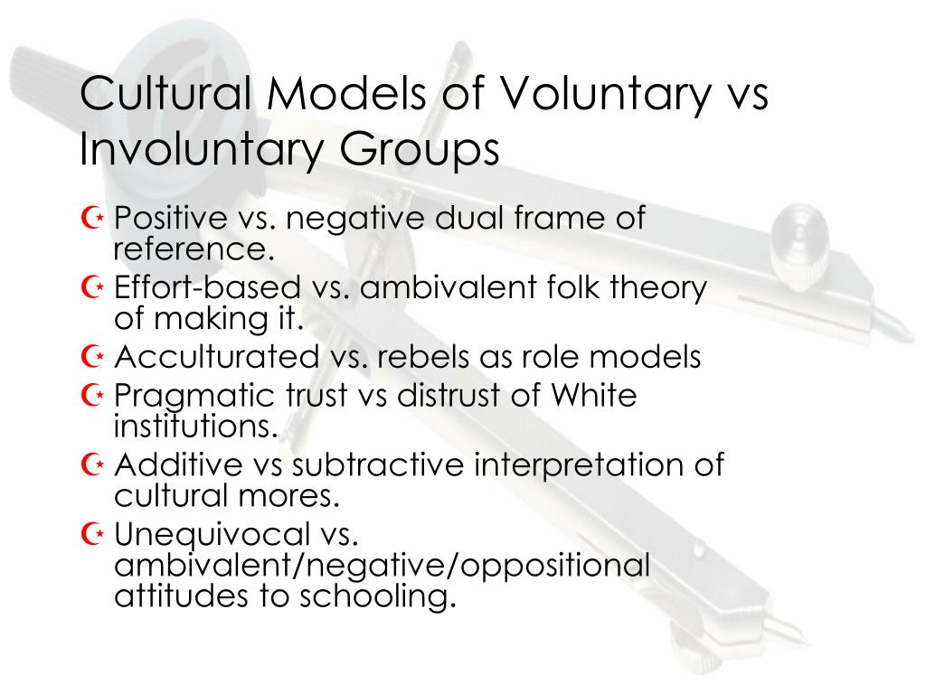 Cultural Models of Voluntary vs Involuntary Groups