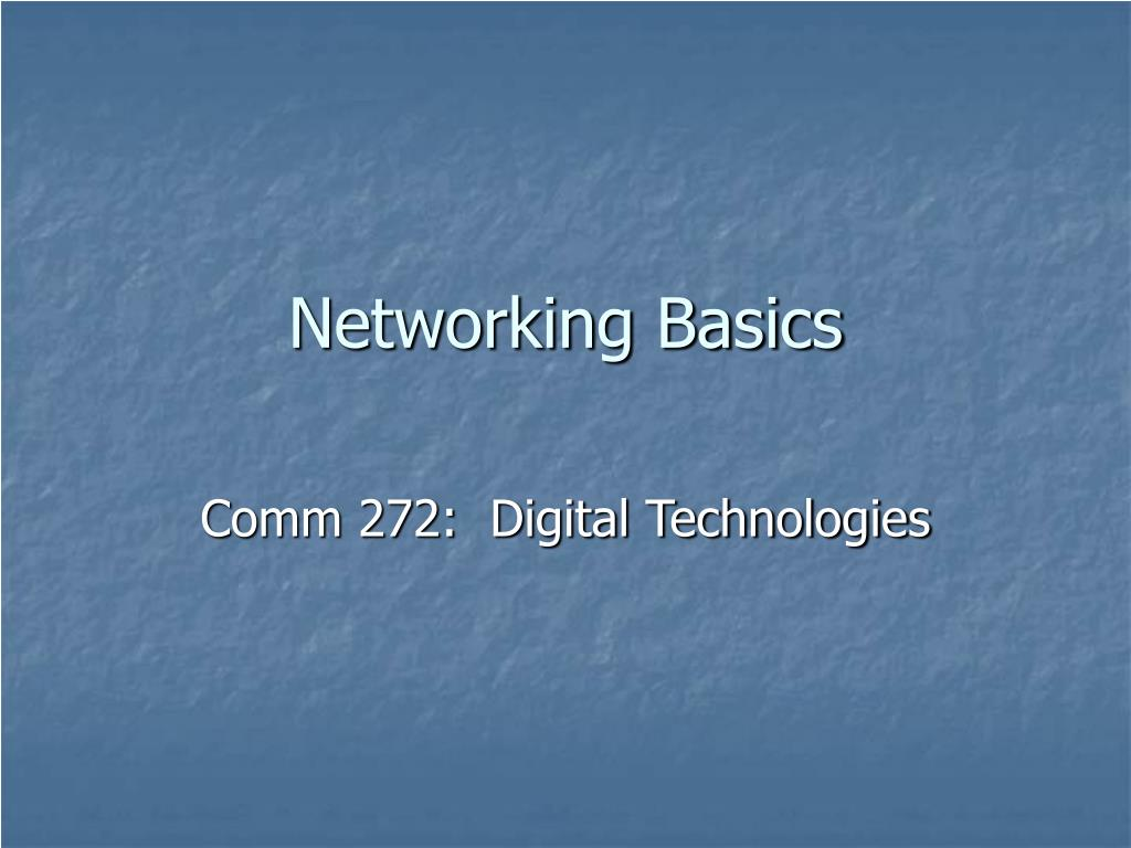 networking basics l.