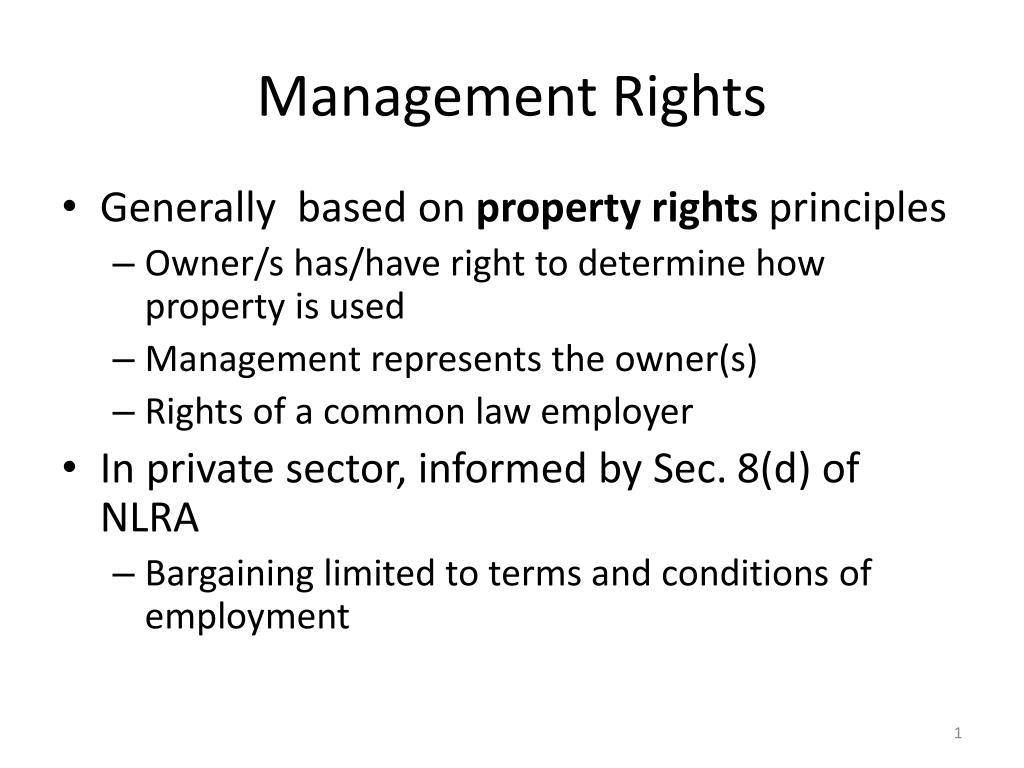 management rights l.