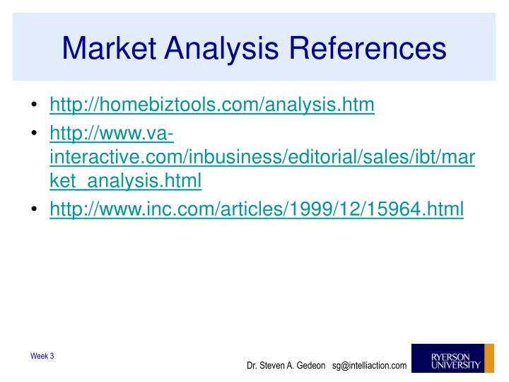 Market Analysis References