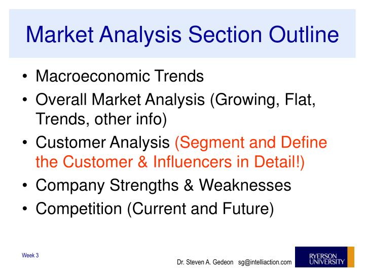 Market Analysis Section Outline