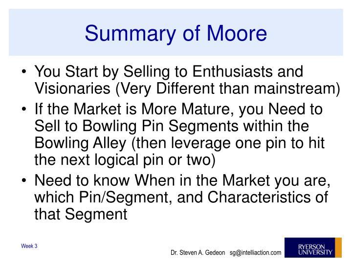 Summary of Moore