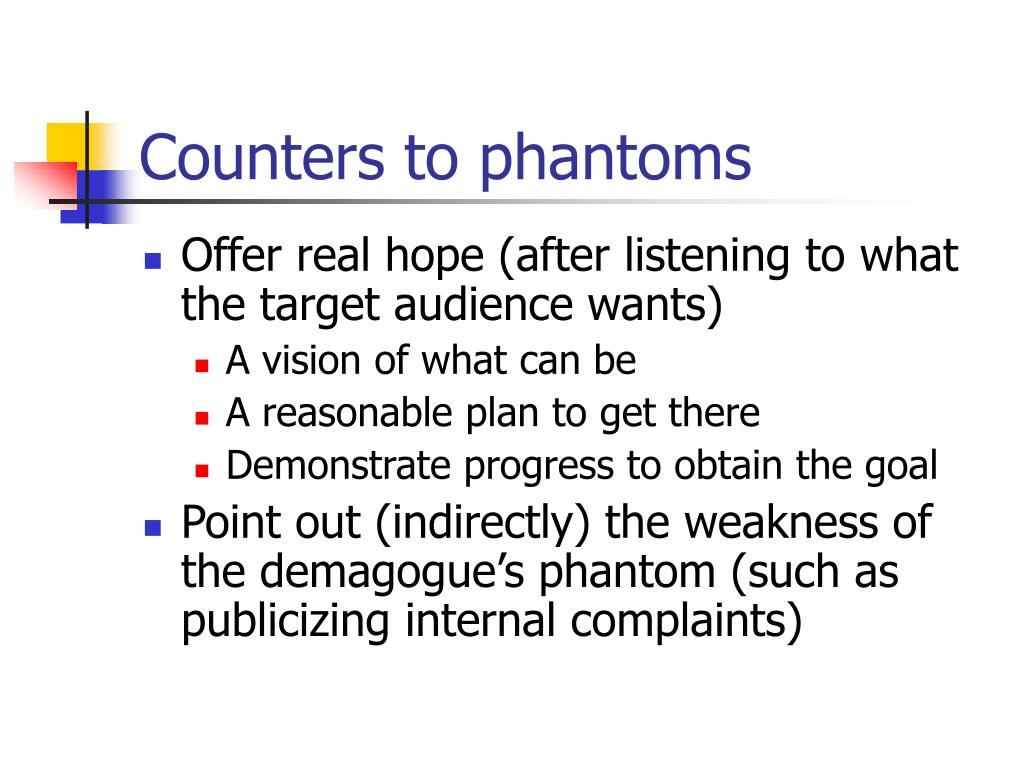 Counters to phantoms