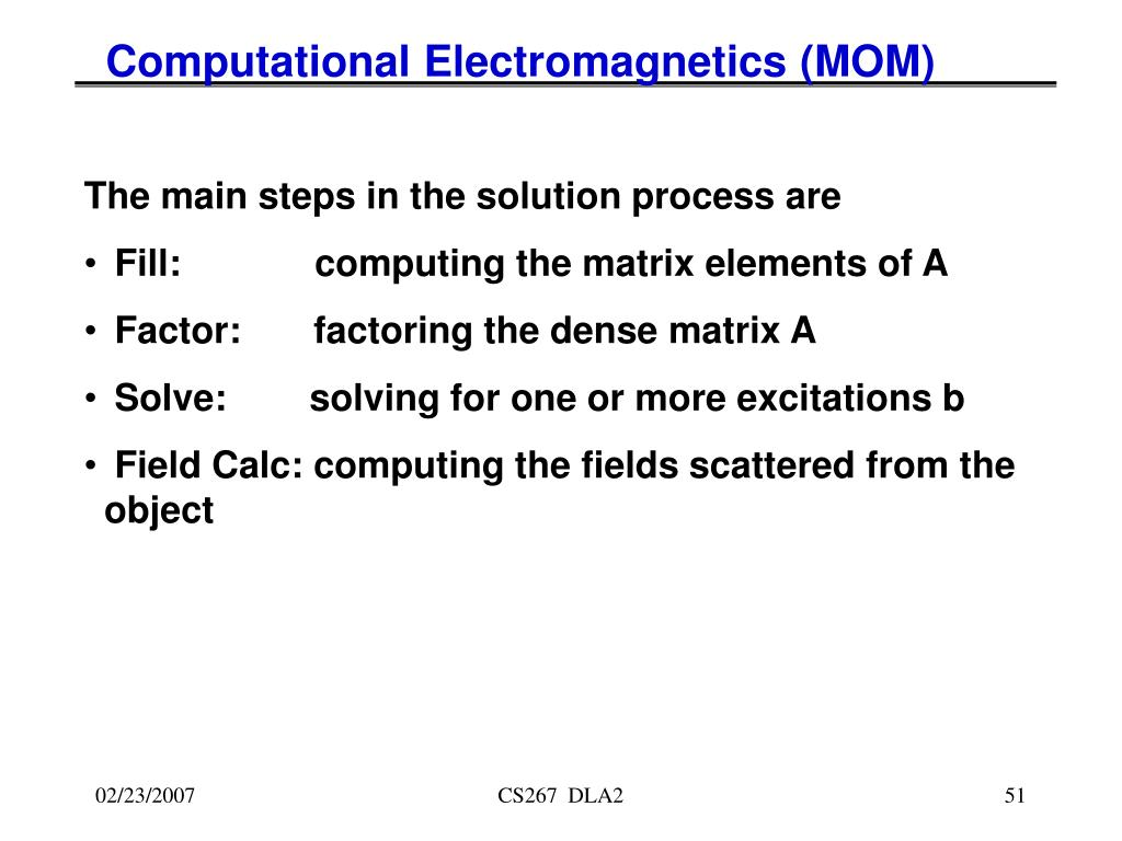 Computational Electromagnetics (MOM)