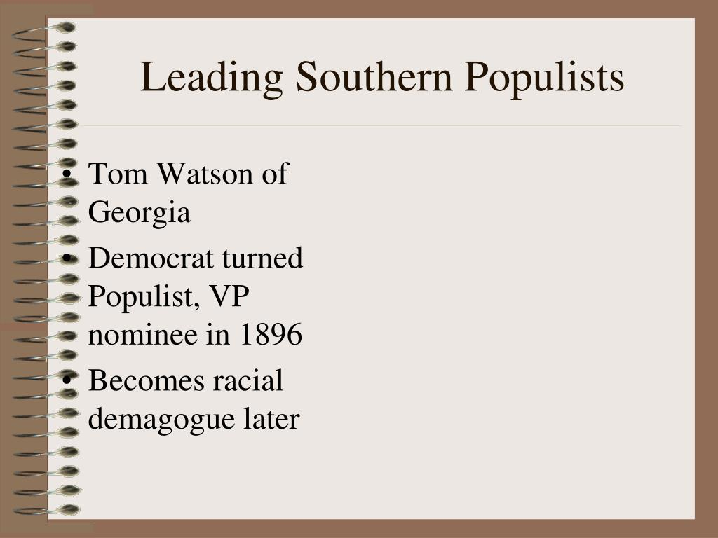 Leading Southern Populists