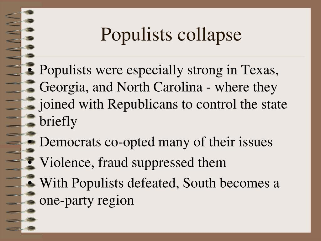 Populists collapse