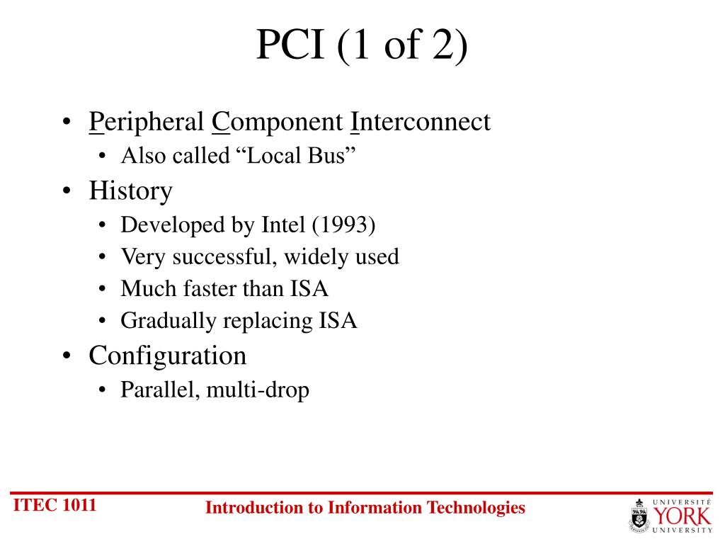 PCI (1 of 2)