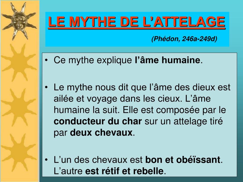 LE MYTHE DE L'ATTELAGE