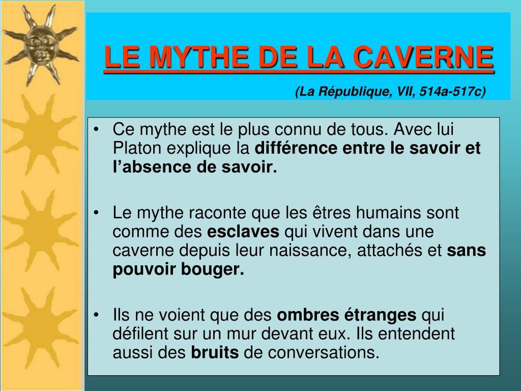 LE MYTHE DE LA CAVERNE