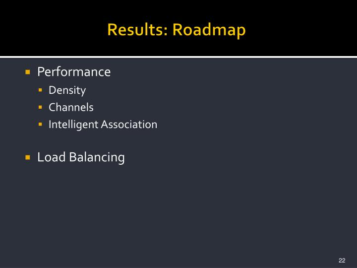Results: Roadmap