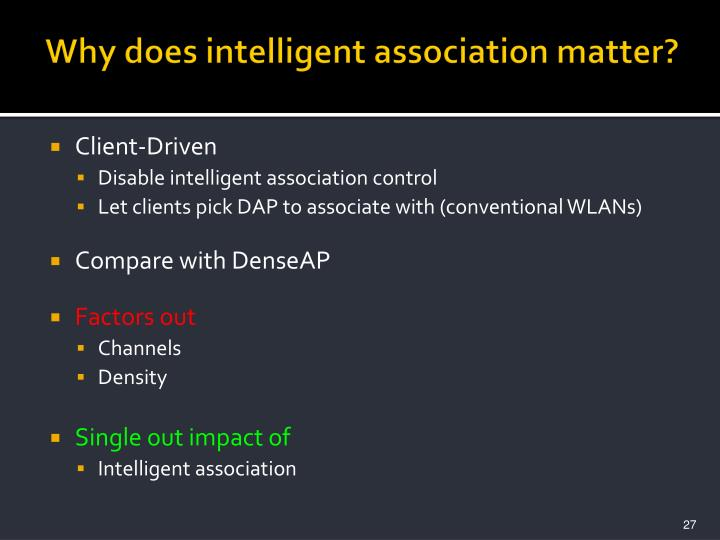 Why does intelligent association matter?