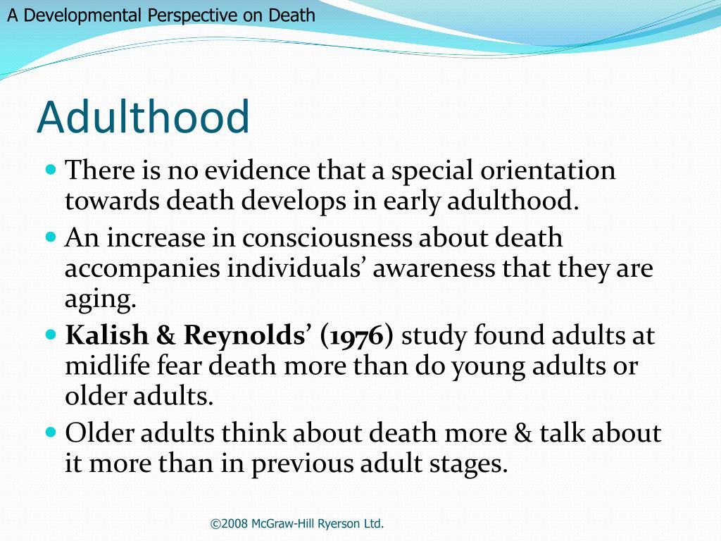 A Developmental Perspective on Death
