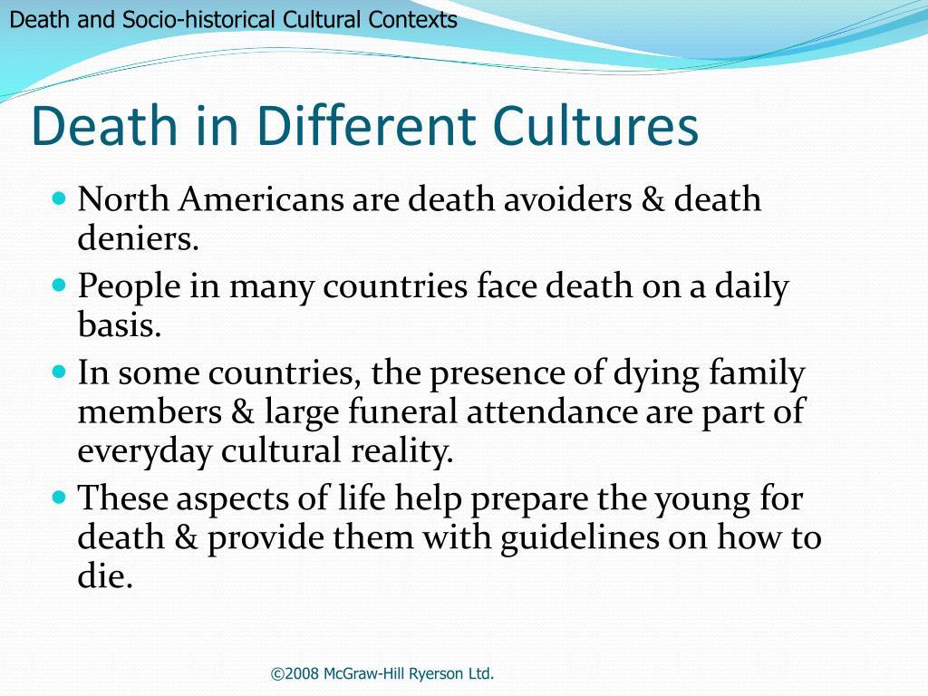 Death and Socio-historical Cultural Contexts