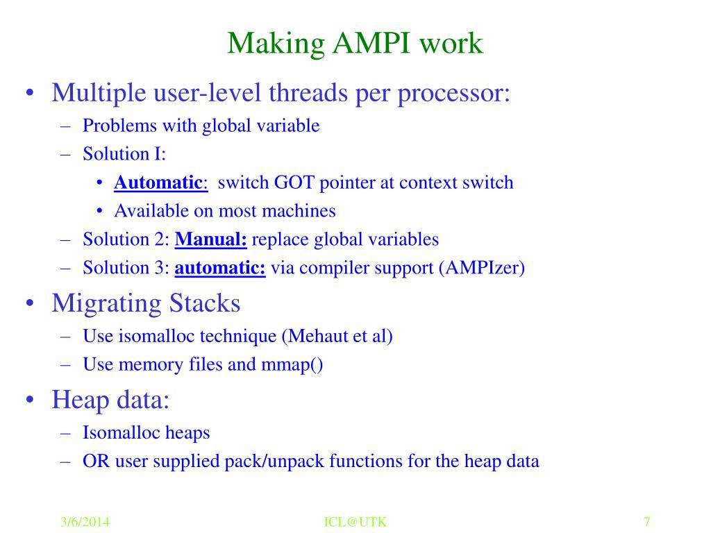 Making AMPI work