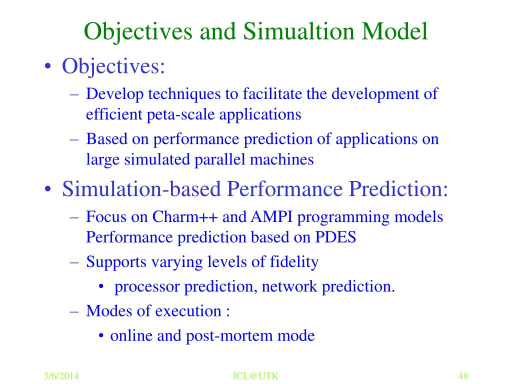 Objectives and Simualtion Model