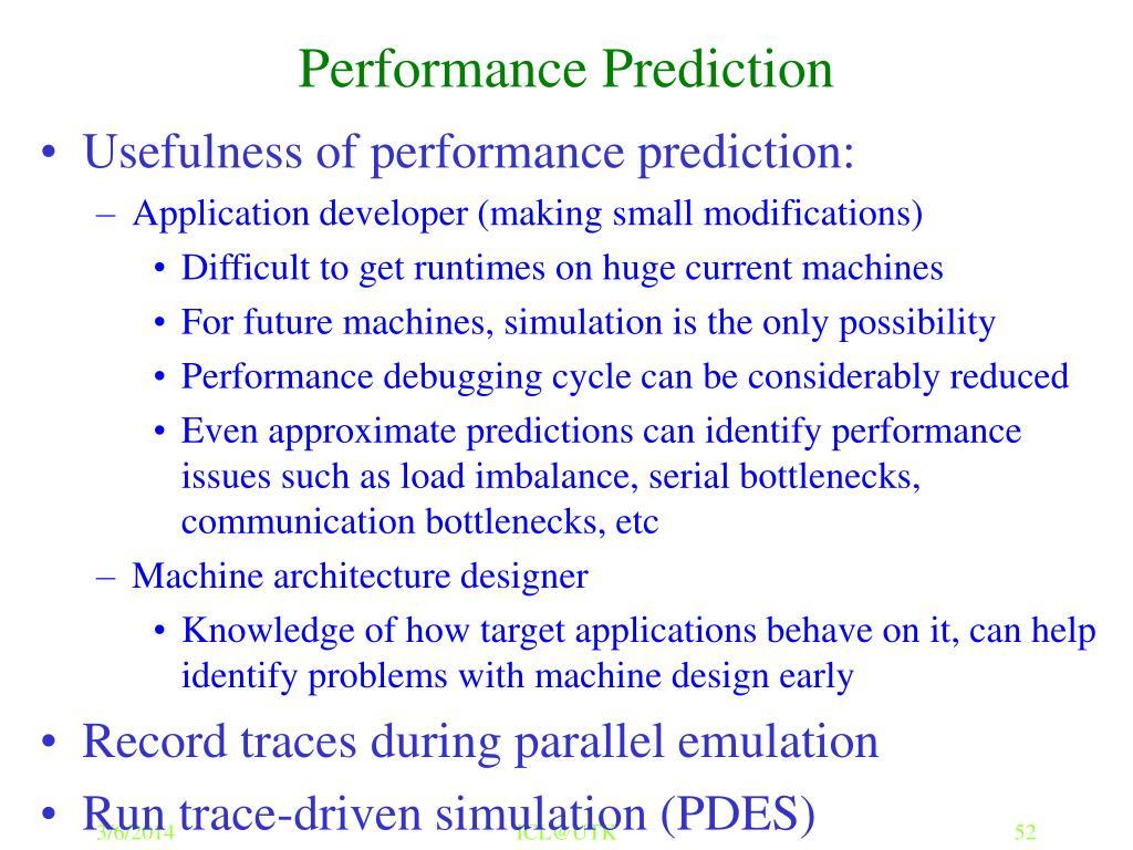Performance Prediction