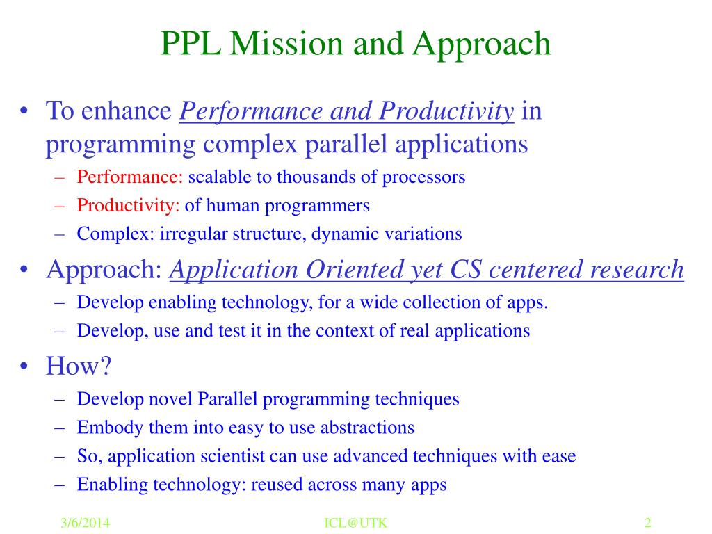 PPL Mission and Approach